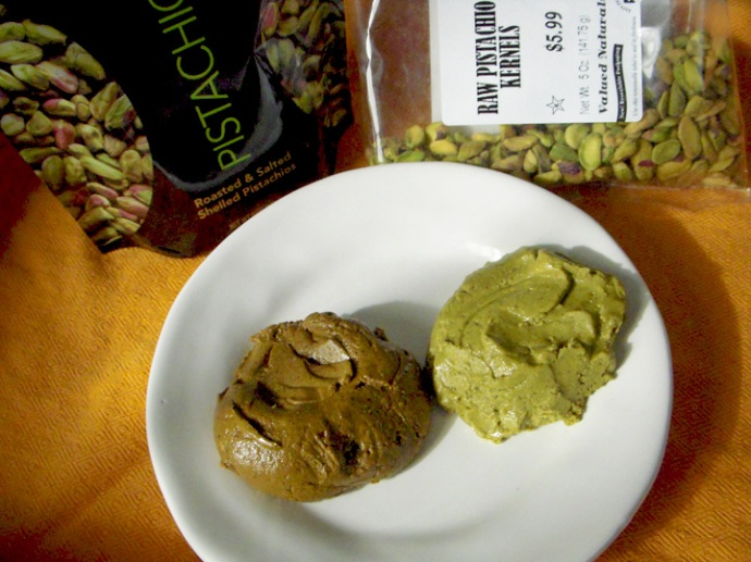Roasted & Raw Pistachio Nut Comparison