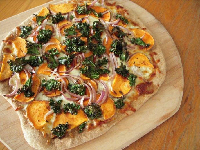 Sweet Potato, Red Onion & Kale Pizza