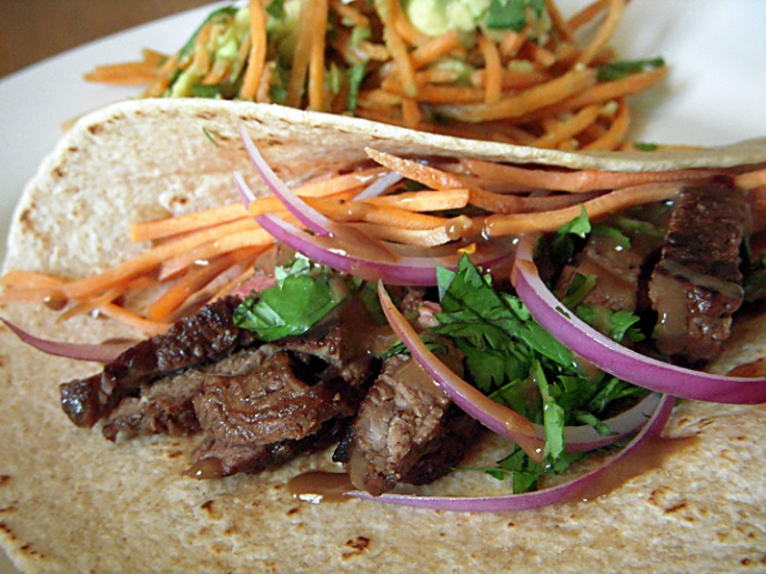 Clean Eating Sirloin Beef Wraps