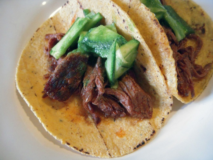 Clean Eating Slow Cooker Beef Brisket Tacos
