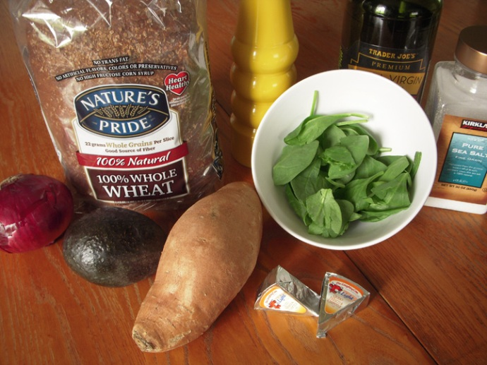 Sweet Potato Avocado Sandwich Ingredients