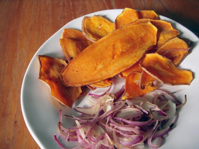 Sweet Potato Avocado Sandwich Roasted Potato and Onion