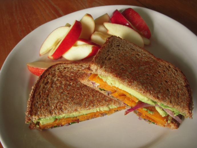 Sweet Potato Avocado Sandwich