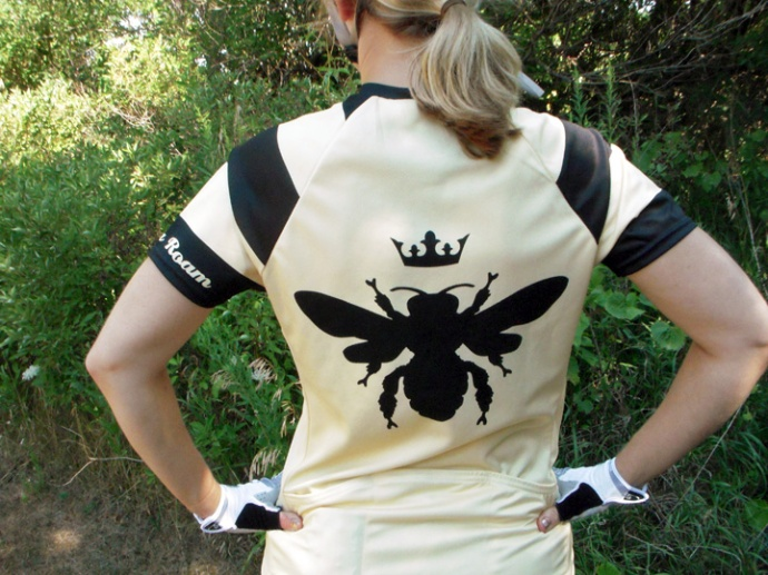 Freeda Roam Honey Bee Women's Cycling Jersey Back