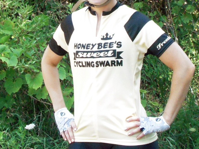 Freeda Roam Honey Bee Women's Cycling Jersey Front