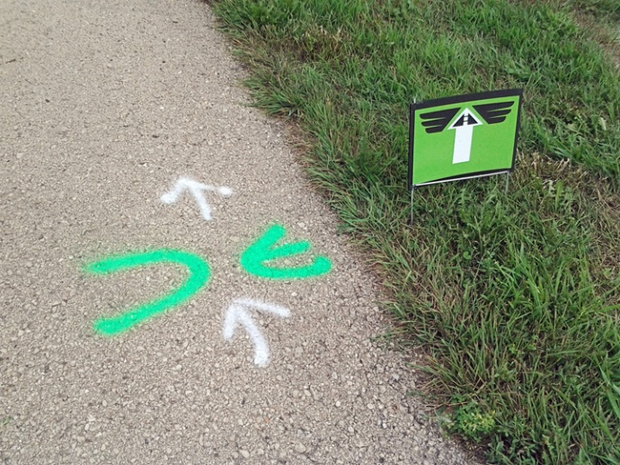 Beloit and Beyond Bike Tour Route Markings