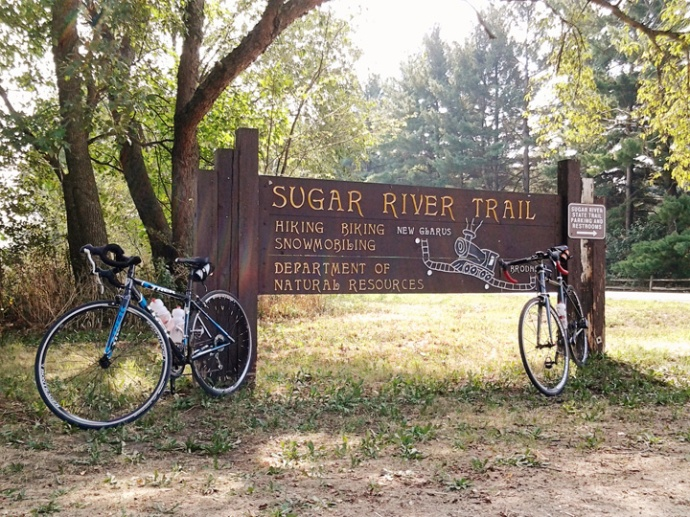 Sugar River State Trail Trailhead in Brodhead Wisconsin