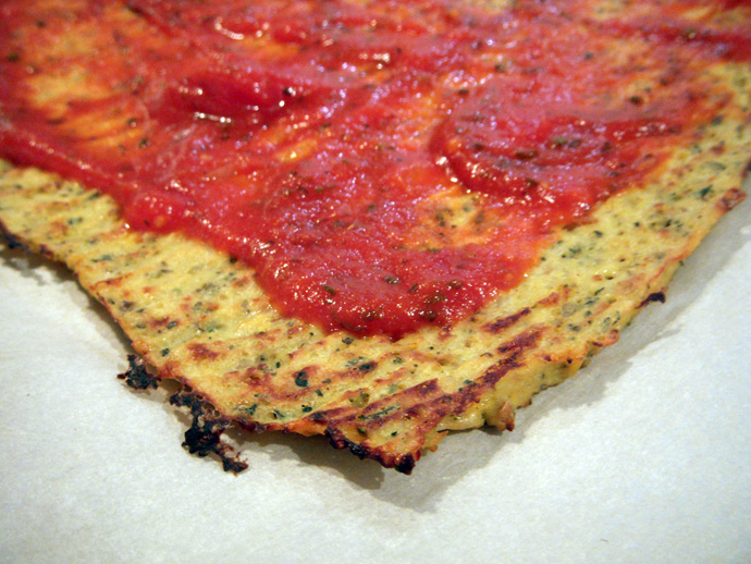 Cauliflower Crust Pizza Closeup