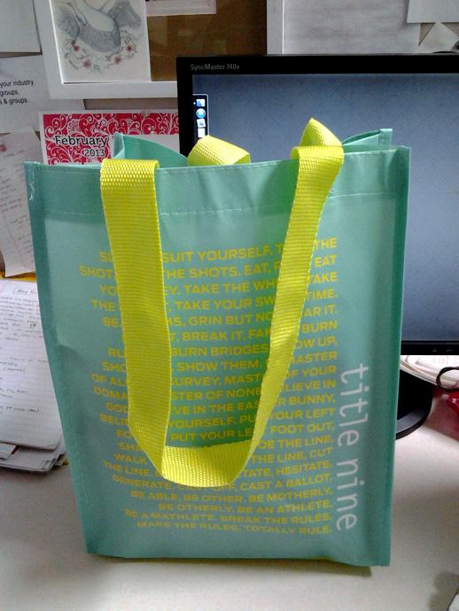 WIAW Title Nine Lunch Bag